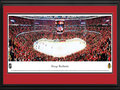 Picture: This 13.5 X 40 panorama has been professionally double matted in team colors and framed to 18 X 44. It features the Chicago Blackhawks skating in front of a capacity crowd at the United Center in Chicago, Illinois. An Original Six franchise, the Blackhawks joined the National Hockey League in 1926 and captured a number of Stanley Cup Championships including the 2010 league title. Entering the 2011-12 season, the Blackhawks earned a playoff berth for three consecutive years, notching 3 of its top 10 regular season point totals in franchise history along the way. The Blackhawks played to capacity crowds and led the league in attendance for the 2010-11 season.