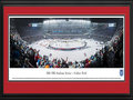 Picture: This 13.5 X 40 panorama of the 2014 Coors Light NHL Stadium Series game at Soldier Field has been professionally double matted in team colors and framed to 18 X 44. It features the hometown favorite, the Chicago Blackhawks, taking on the Pittsburgh Penguins. The excitement surrounding this game was evident, as seats were sold-out in less than 24 hours after tickets went on sale. The Penguins squared off against the defending Stanley Cup Champion Blackhawks, resulting in a final score of Chicago 5, Pittsburgh 1. The National Hockey League Stadium Series is hosted at stadiums around the country and celebrates the history and tradition of outdoor hockey.