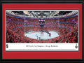 Picture: This 13.5 X 40 panorama has been professionally double matted in team colors and framed to 18 X 44. It spotlights the Chicago Blackhawks 2-0 victory over the Tampa Bay Lightning in Game 6 of the 2015 National Hockey League Stanley Cup Final on June 15, 2015. The Blackhawks drew on the depth of their experience and talent, winning their third title in six years in Game 6. One of the closest Final series ever played, it was only the second Stanley Cup Final to have each of the first five games decided by one goal and the only one without a single lead of more than a goal through the first five games. The Blackhawks relished the opportunity to clinch the Cup in front of their fans and, for the first time in 77 years, win the Stanley Cup on home ice.
