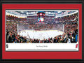 Picture: This 13.5 X 40 panorama has been professionally double matted in team colors and framed to 18 X 44. It is of the New Jersey Devils of the National Hockey League and the Prudential Center, their home since 2007-08. The only sports team proud to wear New Jersey on its chest was established in 1982 and named after the legendary Jersey Devil, which roamed the Pinelands of south Jersey. The Devils made their mark in the Garden State, capturing the Stanley Cup on multiple occasions. Built in downtown Newark, New Jersey, the 17,625-seat arena was the first built in the metropolitan area in more than 25 years and is the driving force behind the city's revitalization.