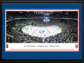 Picture: This 13.5 X 40 panorama has been professionally double matted in New York Islanders team colors and framed to 18 X 44. It showcases a night of firsts for the New York Islanders as they kicked off their season in their new home, Barclays Center in Brooklyn. The move keeps the team in the metropolitan area after the team had played the first 43 years of their existence at Nassau Veterans Memorial Coliseum. Since their inception into the National Hockey League in 1972, the Islanders have enjoyed an epic history. The Islanders nineteen consecutive playoff wins, which included four Stanley Cup Championships within the span, is a feat that remains unparalleled in the history of all professional sports.