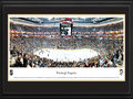 Picture: This 13.5 X 40 panorama has been professionally double matted in Pittsburgh Penguins team colors and framed to 18 X 44. The Pittsburgh Penguins of the National Hockey League are one of the most exciting teams to play on ice. They opened their spectacular new arena, CONSOL Energy Center, in 2010-11. The Penguins have made their mark in history by capturing multiple Stanley Cup Championships, and have built a strong nucleus to challenge for more titles. A franchise rich in history has enjoyed some of the greatest players to lace up the skates. This panorama was taken during the Penguins' inaugural season in their new arena.