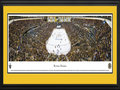 Picture: This 13.5 X 40 panorama of TD Banknorth Garden has been professionally double matted in Boston Bruins colors and framed to 18 X 44. It features the Boston Bruins in their first game of the series and an exciting victory over their co-conference opponent. This win got the Bruins off to a good start in their first round of the Stanley Cup Playoffs. Since November 1, 1924, the day the franchise was established, the Boston Bruins have been at the epicenter of hockey in New England and have been the beloved hometown hockey team with numerous division and conference crowns, as well as Stanley Cup Championships. The Boston Bruins were one of the Original Six when the National Hockey League first began.