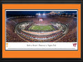 "Picture: Just out from September 10, 2016! 13.5 X 40 panoramic poster of the ""Battle at Bristol"" between the Tennessee Volunteers and Virginia Tech Hokies professionally double matted and custom framed to 18 X 44. This panorama at Bristol Motor Speedway spotlights college football�s largest ever event, the Battle at Bristol, between the Volunteers from the University of Tennessee and the Hokies from Virginia Tech. BMS transformed its iconic short track into a world-class football stadium for this inaugural event. The matchup between these two regional powerhouses, in combination with the special venue, drew an all-time record crowd for a college football game. The game was played on the infield of the speedway, which ranks as the fourth-largest sports venue in America and possesses enough seats for approximately 160,000 people."