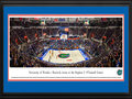 Picture: ***We will be shipping within 7-14 business days due to licensing approval.*** This 13.5 X 40 panorama has been professionally double matted and custom framed to 18 X 44. It highlights the Florida Gators hosting an SEC opponent at Exactech Arena at the Stephen C. O'Connell Center. Transformed in 2016 by a $64.5 million major remodel, the renovations included a rebuilt entrance, expanded and improved concessions, chair-back seating throughout, the Courtside Club, the George Brand Center Court Club and the centerpiece of the renovation: a new $2 million hanging center-court video board. The arena is home to several of the Florida Gators intercollegiate men's and women's sports teams, including basketball, gymnastics and volleyball and is considered one of the toughest places to play in college basketball.