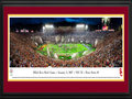 "Picture: Ready to ship now! This 13.5 X 40 panorama has been professionally double matted and custom framed to 18 X 44. It spotlights the culmination of an exciting day of football as the USC Trojans celebrated victory over the Penn State Nittany Lions at the 103rd edition of the legendary Rose Bowl Game in Pasadena, California. USC's motivation entering the game was high, having achieved the best regular-season record in the Pac-12, and completing the season with nine straight wins; a feat few teams can say they have accomplished. First played in 1902 and celebrating over a century in the making, the Rose Bowl Game is aptly nicknamed �The Granddaddy of Them All"", as the oldest bowl game in college football."