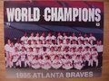 Picture: 1995 Atlanta Braves World Champions Team 8 X 10 photo double matted to 11 X 14 includes Greg Maddux, John Smoltz, Tom Glavine, Javy Lopez, Chipper Jones, David Justice and many others.
