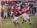 Picture: Matt Ryan in action Atlanta Falcons panoramic print with Michael Turner and Ovie Mughelli blocking.