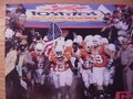 """Picture: Texas Longhorns 2009 Tostitos Fiesta Bowl """"Here Comes the Longhorns"""" 11 X 14 photo."""