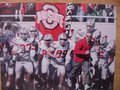 Picture: Jim Tressel leads Ohio State Buckeyes players onto the field 12 X 18 panoramic print.